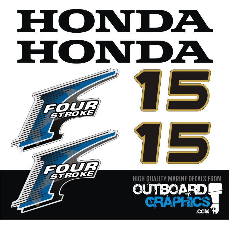 HONDA 40hp 4 Stroke decals//stickers  Quality Product