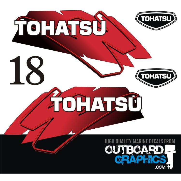 OUTBOARD  DECALS TOHATSU 18hp